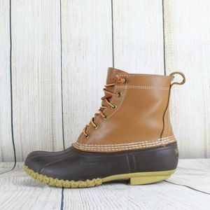 "LL Bean Classic 8"" Leather Duck Boots Size 9 M USA"